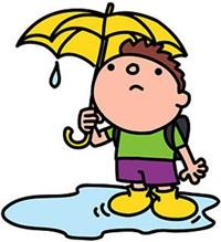 雨降りイラスト